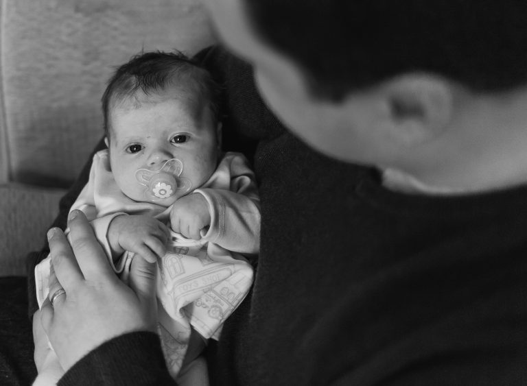 London based Enfield photographer taking photos of a newborn and the family