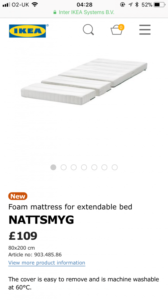 mattress for ikea extendable bed for girls pink bedroom