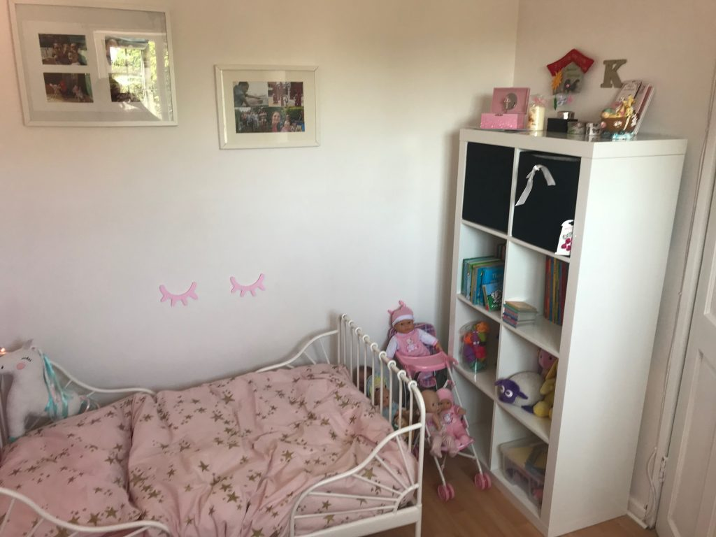 new pink girl bedroom storage bed pink bedding photos books toys buggies dolls unicorn all ready