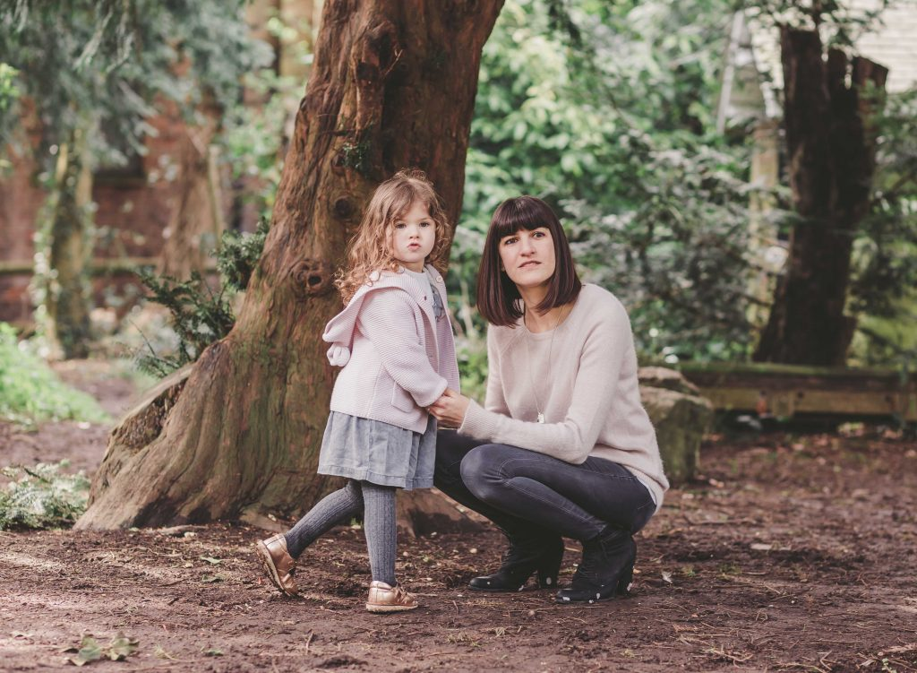 mum and daughter holding hands in the park Forty Hall photoshoot Enfield Photographer